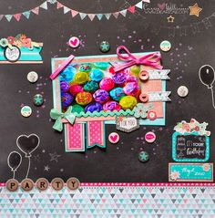Cherish the Memory DT Project: Happy Cupcakes - Birthday Themed Scrapbook Layout