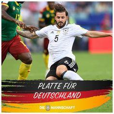 @platte21_official spielte 90 Minuten bei #GERCMR und steht mit dem @dfb_team im Halbfinale des Confed-Cups! Glückwunsch Platte! #herthainternational #hahohe
