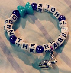 Down The Rabbit Hole Kandi Bracelet with Bunny by KandiKweens