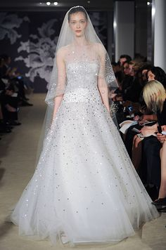 Carolina Herrera, Spring 2015...Pretty, explore the different embellishments options that fit your style. Be open for suggestions from your dressmaker.