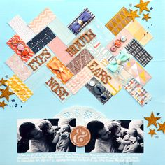 The One with August 2013 American Crafts Layouts