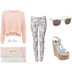 Pastel floral outfit - this is really cute, I might be able to pull this off.