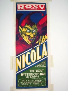 Magic-Poster-Vintage-Nicola-Magician-Most-Mysterious-Man-Earth-Roxy-Vaudeville