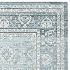 Safavieh Valencia Alpine/ Multi Distressed Silky Polyester Rug (8' x 10')