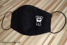 Snauzer kutyus mintával díszített textil maszk Drawstring Backpack, Beanie, Backpacks, Hats, Fashion, Moda, Hat, Beanies, Backpack