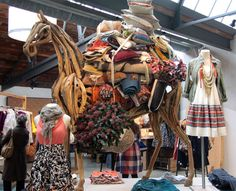new anthropologie store // kings road london // wooden camel