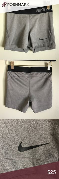 Nike Pro Shorts Nike spandex shorts in very good condition. The swoosh is barely starting to crack a bit, nothing noticeable. I have two other listings with other Nike Pro Shorts, size small. ❌No Trades ✨Accepting Offers Nike Shorts
