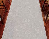 Wedding Aisle Runner White with All Over Heart Design - DIY Wedding - Woodland Wedding