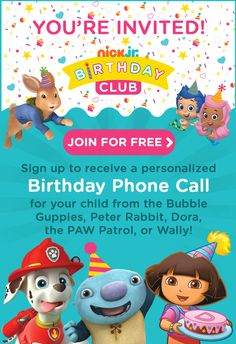 Frugal Mom and Wife: FREE Phone Call From Bubble Guppies, PAW Patrol, Dora, & More!