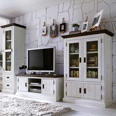 wohnzimmermöbel set lydia in weiß (7-teilig) - gemütliche ... - Landhaus Wohnzimmer Weis