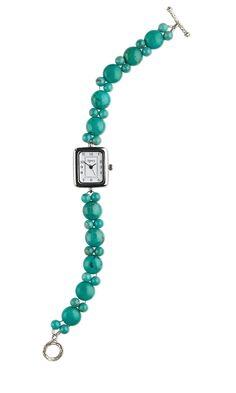 Jewelry Design - Watch with Turquoise Gemstone Beads - Fire Mountain Gems and Beads