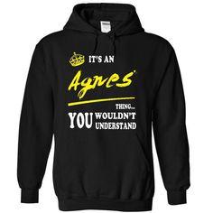 It is An Agnes - #grey hoodie #sweatshirt jeans. GET => https://www.sunfrog.com/LifeStyle/It-is-An-Agnes-6593-Black-15941931-Hoodie.html?68278
