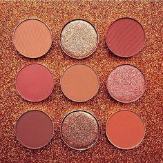 #ABHSingleShadows From left to right: Burnt orange, Sunset, Morocco, Blazing, Caramel, Henna, Red earth, Golden Copper, Brick @glitter_whispers #AnastasiaBeverlyHills