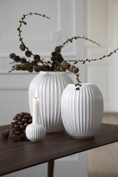Beautiful autumn and winter news by Danish Kähler . Round, stylish vases and candlesticks w...