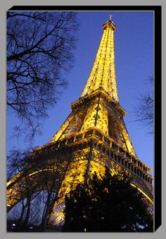 The Eiffel Tower at Twilight 20x30 by KalosKanvases on Etsy, $185.00