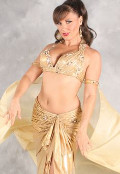 COTILLION COUTURE III in Gold by Designer Eman Zaki, Egyptian Belly Dance Costume http://www.dahlal.com/cotillion-couture-iii-in-gold-by-designer-eman-zaki-egyptian-belly-dance-costume/