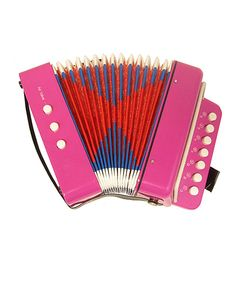Look at this Pink 7-Key Bass Accordion on #zulily today!