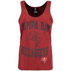Women's Tampa Bay Buccaneers Red End Around Tri-Blend Tank Top