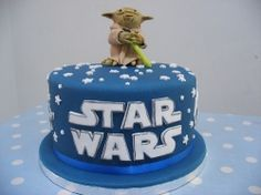@Rebekah Callahan. There are cake pans out there for Star Wars, but very expensive. You could buy a figurine and use it as a cake topper and do something like this.