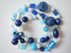 necklace in blue tones. Blue Necklace, Blue Tones, Buy And Sell, Spring, Summer, Handmade, Stuff To Buy, Free, Etsy