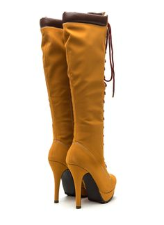 Up And At 'Em Faux Nubuck Boots HONEYWHEAT