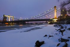 Minneapolis Minnesota - Father Louis Hennepin Bridge - Mississippi river Winter 2013 | Flickr - Photo Sharing!
