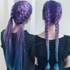 Tempting and Attractive Purple Hair Looks Look accattivanti e attraenti per i capelli viola – JANDAJOSS. Cute Hair Colors, Hair Dye Colors, Cool Hair Color, Pretty Hairstyles, Braided Hairstyles, Hairstyle Ideas, Dye My Hair, Cool Hair Dyed, Dyed Hair Pastel