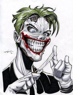 Joker by Ian Navarro Der Joker, Joker Art, Perro Labrador Retriever, Comic Character, Comic Book Characters, Harley Queen, Joker Pics, Joker Wallpapers, Creepy Clown