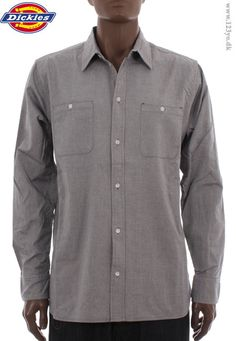 Streetwear clothing: Dickies shirt  - grey color, nice quality