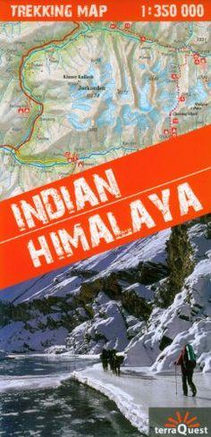 Himalaya Indio, Indian Himalaya, mapa excursionista plastificado. Escala 1:350.000. Kaszmir, Ladakh, Zanskar, Lahul, Rupshu, Spiti, Kinnaur, Garhwal, Kumaon and additional Sikim. terraQuest.  #ParquedeVigeland