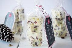 White chocolate, pistachio & cranberry fudge is made in minutes and is pretty and festive enough to give as a gift.