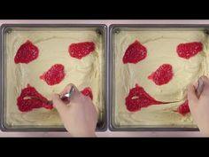 YouTube Square Cake Pans, Square Cakes, Raspberry Cake, Strawberry, Tostadas, Bon Ap, Sweets Recipes, Desserts, Eclair