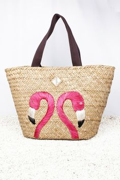 Twin flamingo tote bag by Amina Aranaz