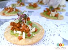 In case you haven't heard, we had a terrific time last Saturday in Yucca Valley grilling up a storm at The Ruin Venue. And, one of the ways we helped get the festivities started was with these delectable Tostadita de Chorizo appetizers.   More: https://www.sohotaco.com/2016/06/06/delectable-appetizers-served-at-last-saturdays-wedding-at-the-ruin-venue #tacocatering #yuccavalleywedding #weddingidea #weddingideas #theruinvenue #yuccavalley #ocwedding #ocweddings #lawedding #laweddings
