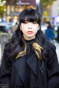 Dark Tokyo Winter Street Fashion w/ Perverze, Jeffrey Campbell, Bubbles, Ozoc & The North Face Tokyo Fashion, Harajuku Fashion, Harajuku Style, Street Fashion, Tokyo Winter, Harajuku Girls, Winter Looks, Black Backpack, Jeffrey Campbell