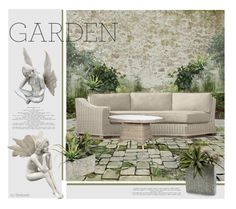 """""""Juliet's Garden"""" by beebeely-look ❤ liked on Polyvore featuring interior, interiors, interior design, home, home decor, interior decorating, Restoration Hardware, Nearly Natural, John-Richard and garden"""