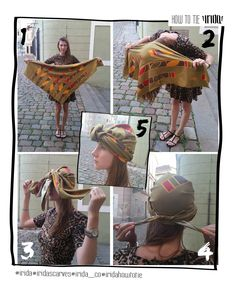 Want to wear your Irida scarf as a turban? There is nothing easier!