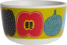 Marimekko Kompotti Green and Multi Bowl  | Crate