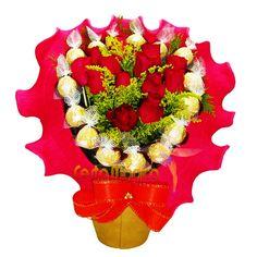 Bouquet de Rosas e Bombons
