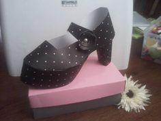 high heel paper shoe template | Mary Jane High Heel Paper Shoe by SallyScraps - Cards and Paper Crafts ...