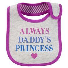 Daddy's Princess Teething Bib