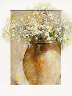 Shop for ''Flowers in a Pot I'' by Willem Haenraets Floral Art Print x in. Get free delivery On EVERYTHING* Overstock - Your Online Art Gallery Store! Watercolor And Ink, Watercolor Flowers, Watercolor Paintings, Watercolor Canvas, Watercolors, Still Life Art, Painting Inspiration, Flower Art, Painting & Drawing