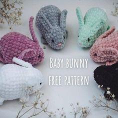 Crochet Panda, Crochet Teddy Bear Pattern, Crochet Baby Toys, Crochet Unicorn, Free Crochet, Pajama Pattern, Baby Bunnies, Amigurumi Patterns, Crochet Patterns