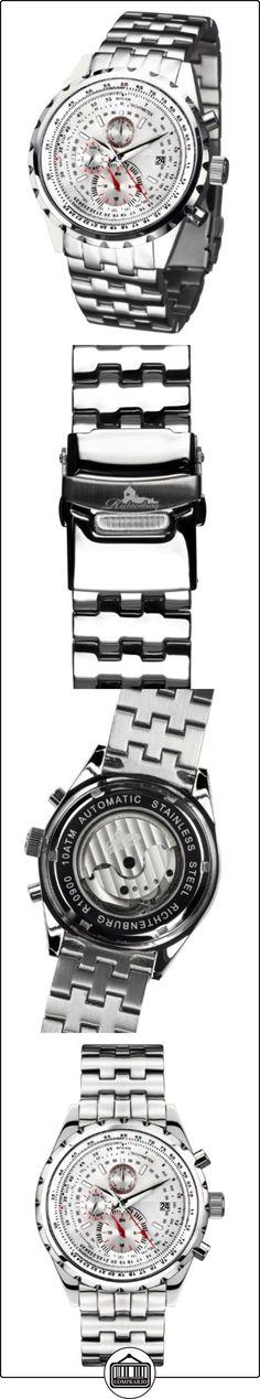 Richtenburg R10900_silber - Reloj para hombres, correa de acero inoxidable color plateado  ✿ Relojes para hombre - (Lujo) ✿