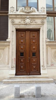 Solid, massive wooden door. Bucharest, Wooden Doors, Garage Doors, Outdoor Decor, Furniture, Home Decor, Wood Doors, Homemade Home Decor, Home Furnishings