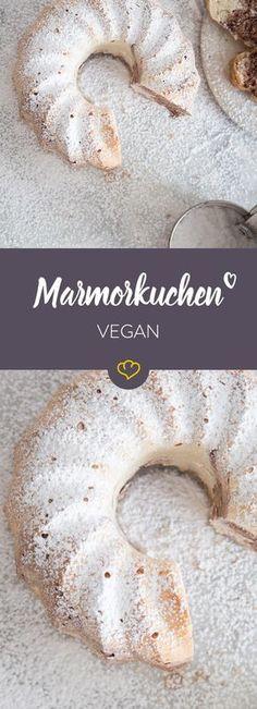Veganer Marmorkuchen duftet genauso gut wie der Klassiker mit Eiern - versprochen. Wie er schmeckt? Na wie bei Oma: saftig, fluffig, zart.