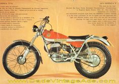 1974 Bultaco Sherpa T 250 and 350 motorcycle brochure w/ photos & specs