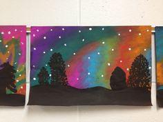 Northern Lights, 5th or. 6th grade art: