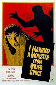 I Married a Monster from Outer Space - 1958 sci-fi film, directed Gene Fowler Jr. Starz Tom Tryon, Gloria Talbott. The story centers on freshly married Marge Farrell who finds her husband Bill strangely transformed soon after her marriage: He is losing his affection for his wife and other living beings and drops various earlier habits. Soon she finds out that Bill is not the only man in town changing into a completely different person. (Wiki)  >>> click pic for more infp