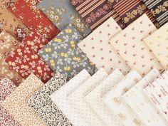 The warmth of Walnut Grove comes to life in this charming Little House on the Prairie collection from Andover. Featuring florals and border stripes in tan, mauve, rust, chambray and cream, these pre-cuts are perfect for an heirloom quilt your loved ones will cherish.